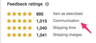 eBay feedbacks
