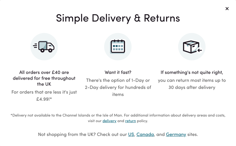 Wayfair UK Shipping Costs