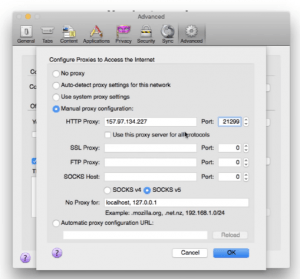 Firefox-Proxy-Setup