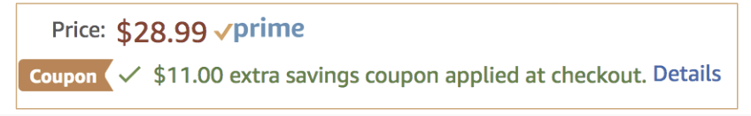 Amazon coupon products