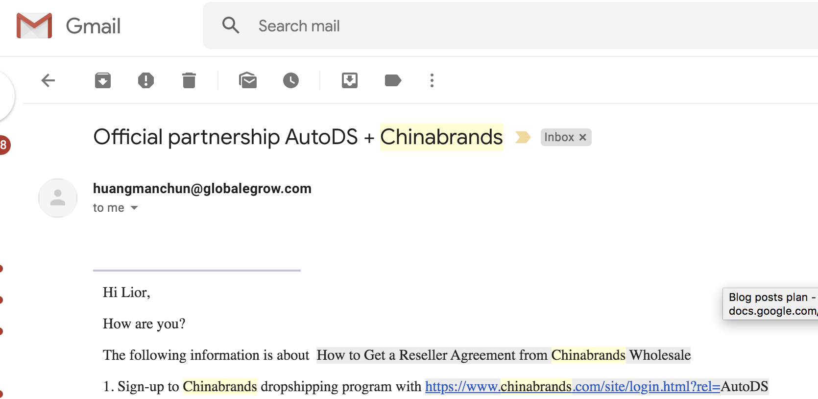 Official Partnership AutoDS + Chinabrands