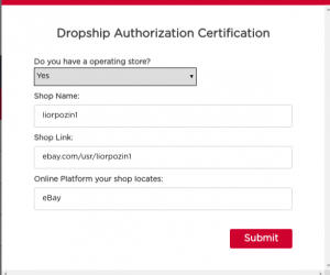 Dropship-Authorization-Certification