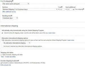 eBay Shipping Policy for Banggood Dropshipping