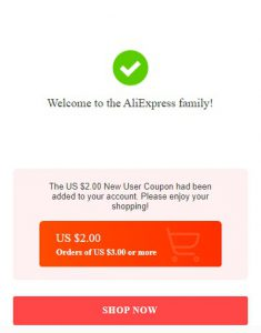 AliExpress New User Coupon