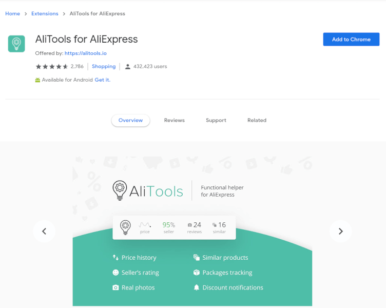 Alitools dropshipping extension