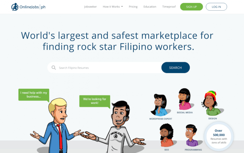 Outsource Filipino workers