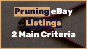 Pruning eBay Listings