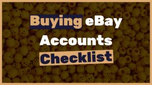 How to buy eBay accounts?