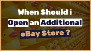 Opening multiple eBay stores