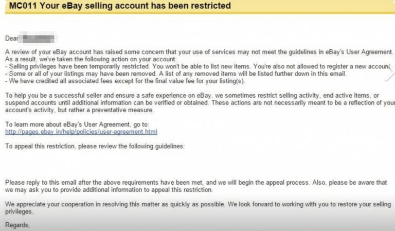 eBay restriction MC011 – Will I get my account back? (Full guide) | AutoDS