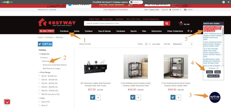 Costway To eBay Dropshipping