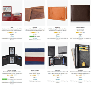 dropshipping wallets on eBay