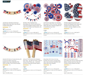 patriotic decoration for dropshipping