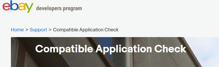 eBay Developers Program Compatibility Check