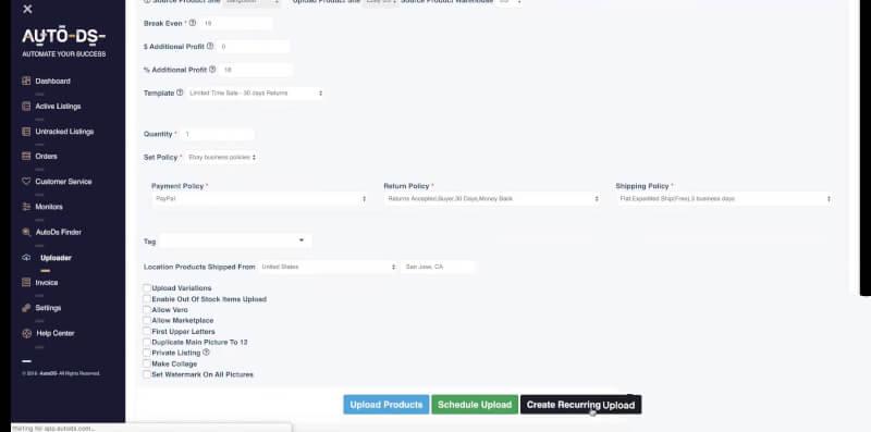 Autods uploader and finder