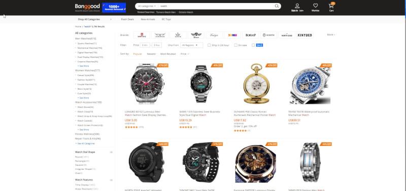 watches on banggood