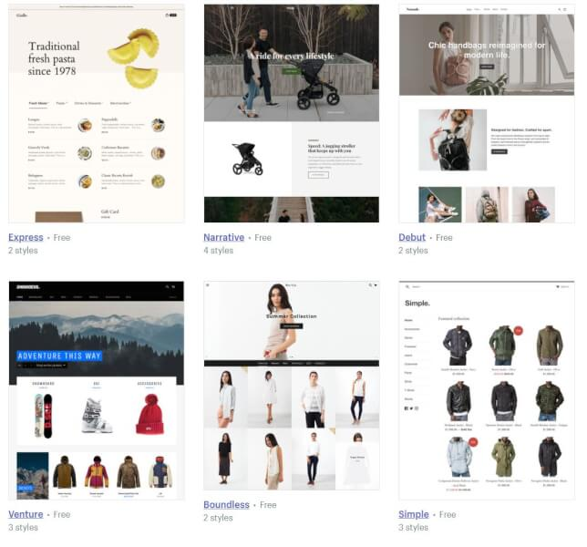 find a theme for your dropshipping shopify store
