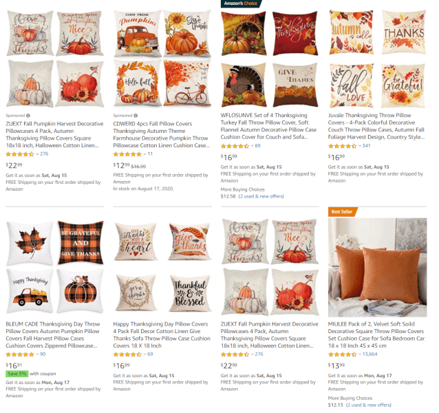 Dropshipping pillow covers during Q4