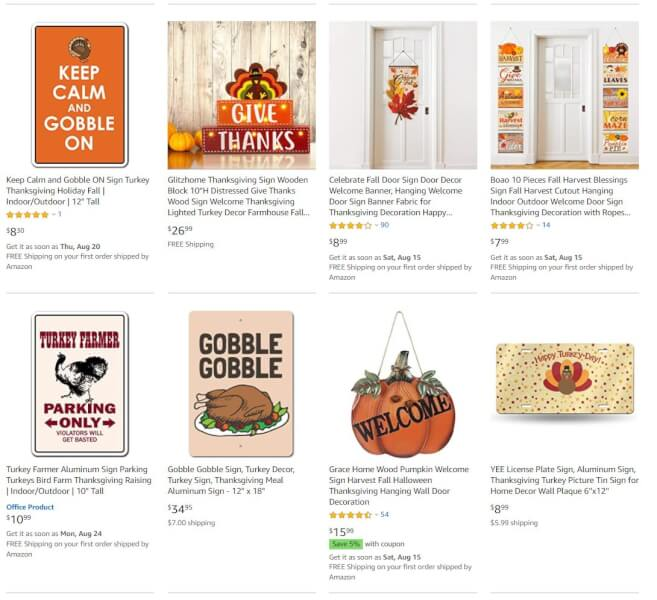 Thanksgiving Signs And Plaques