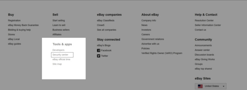 using ebay security center to get keyword suggestions