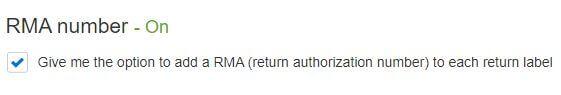 eBay RMA Number