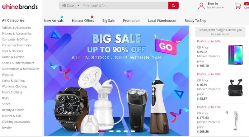 chinabrands with multiple dropshipping wholesale suppliers