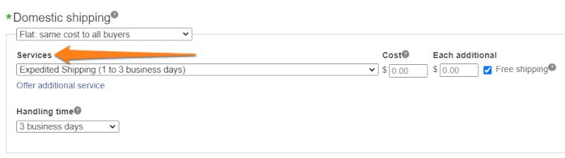 eBay-shipping-policy