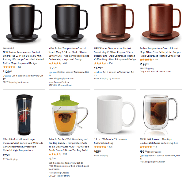 dropshipping Temperature Controlled Smart Mugs
