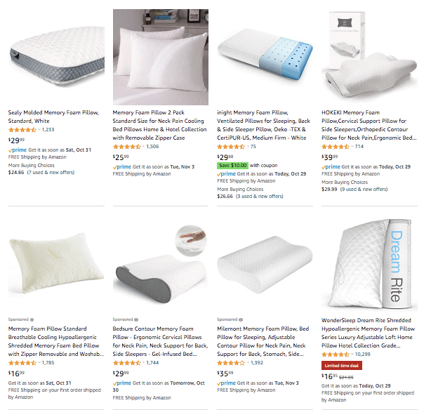 Dropshipping Memory Foam Pillow