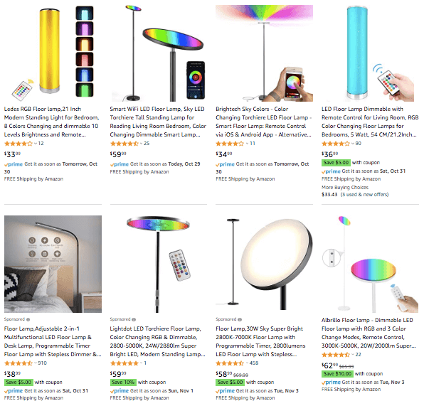 dropshipping RGB Floor Lamp