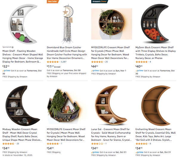 dropshipping Crescent Moon Shelves