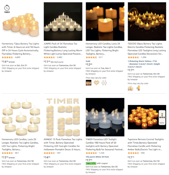 Dropshipping Flameless Tea Lights