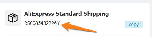Tracking aliexpress standard shipping