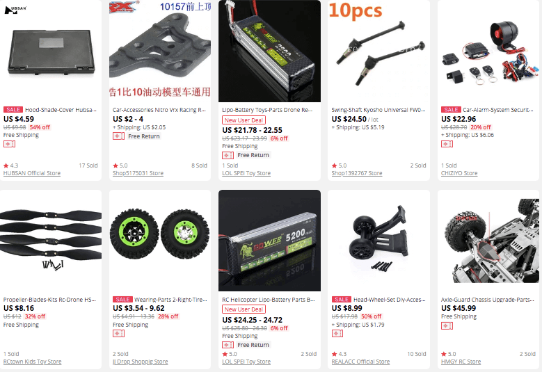 Selling RC car accessories