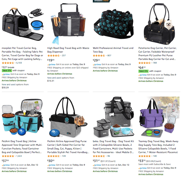 doggie travel bag online shopping