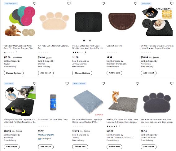 selling cat litter mats