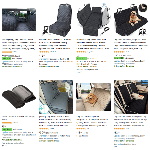 dropshipping pet seat covers