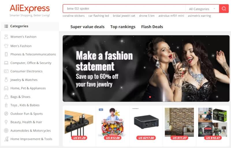 aliexpress to ebay dropshipping front page