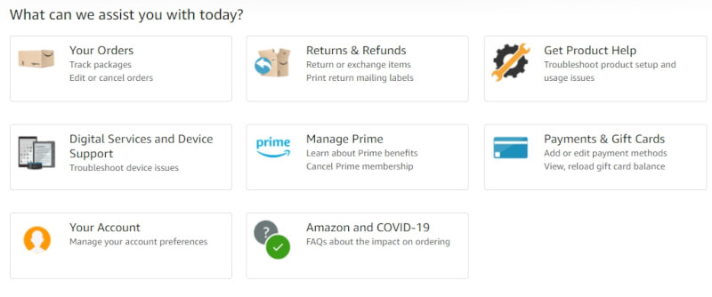 amazon customer service online seller