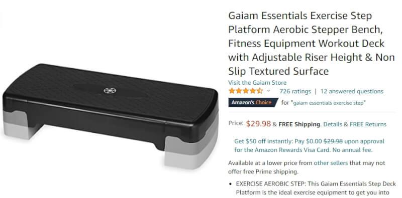amazon exercise step product