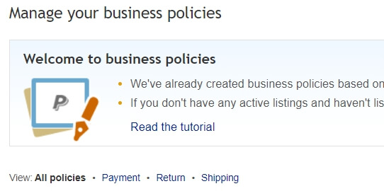 ebay business policies dropshipping