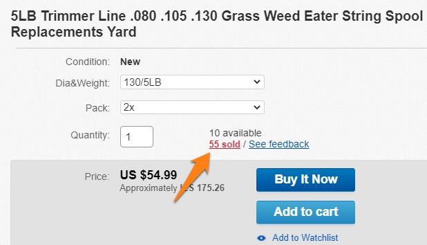 ebay selling history