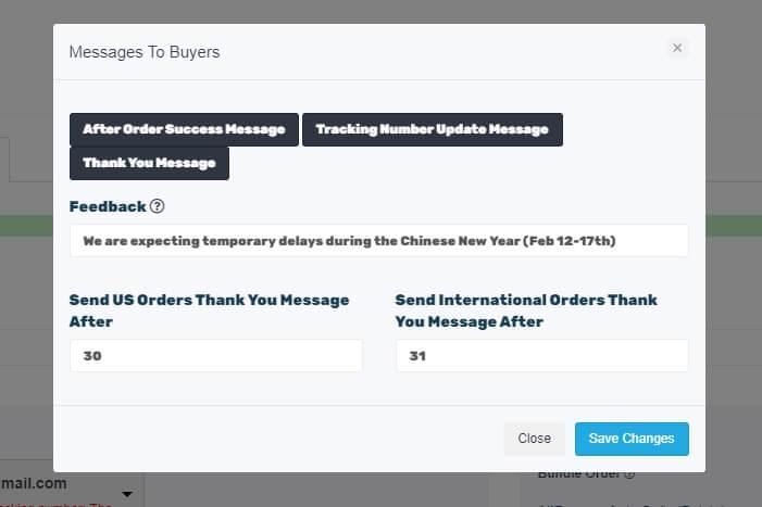 ebay custom messages autods
