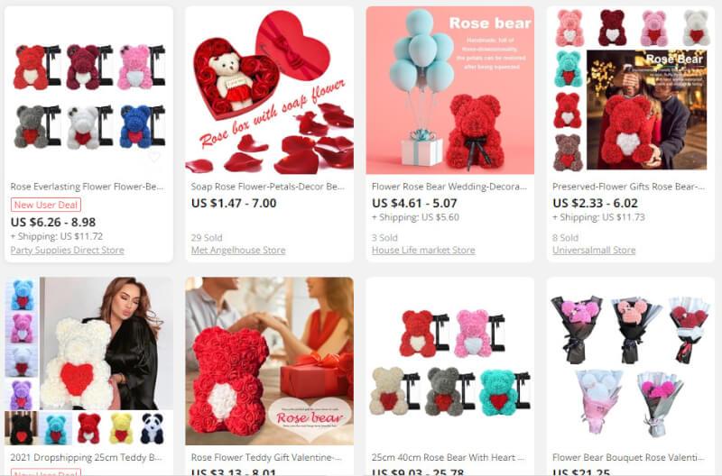 Rose Flower Bear online seller
