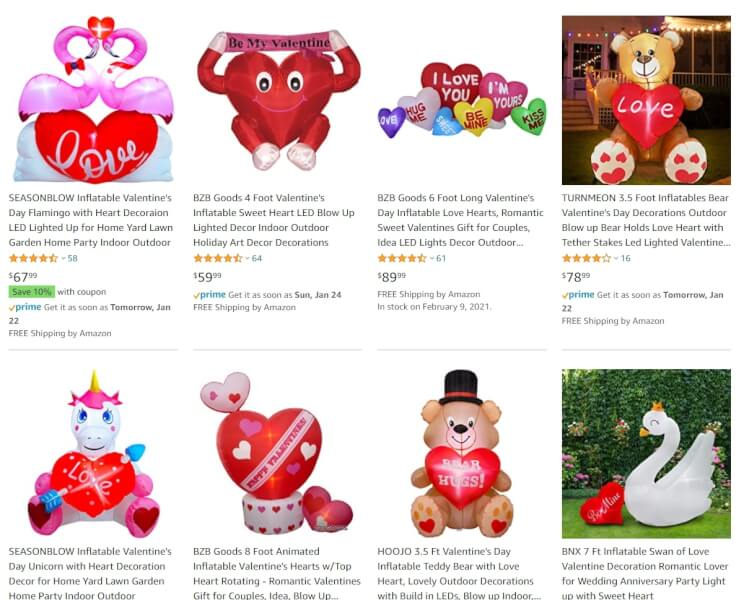 Valentine's Day Inflatables dropship