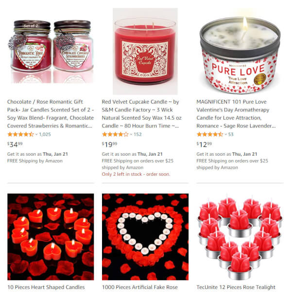 Valentine's Day Candles online selling