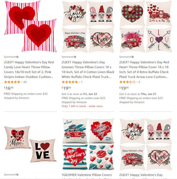 Valentine's Day Pillow Covers dropshippers