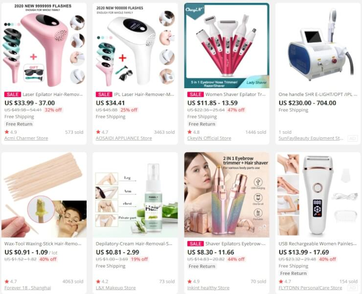 hair removal dropshipping products