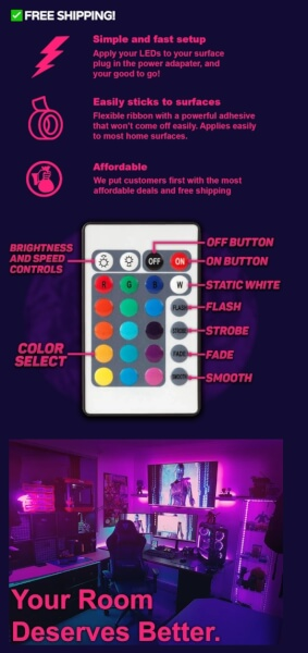 stardustleds product page