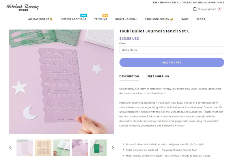 notebook therapy product page